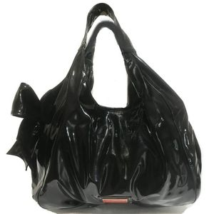Valentino Large Patent Leather Nuage Bow Tote Bag